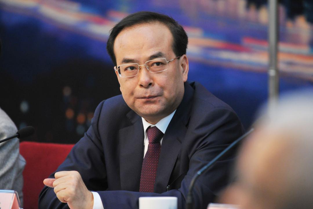 圖為2016年3月6日在北京,時任重慶市委書記的孫政才出席十二屆全國人大四次會議重慶代表團全體會議。 攝:未央 / 東方IC