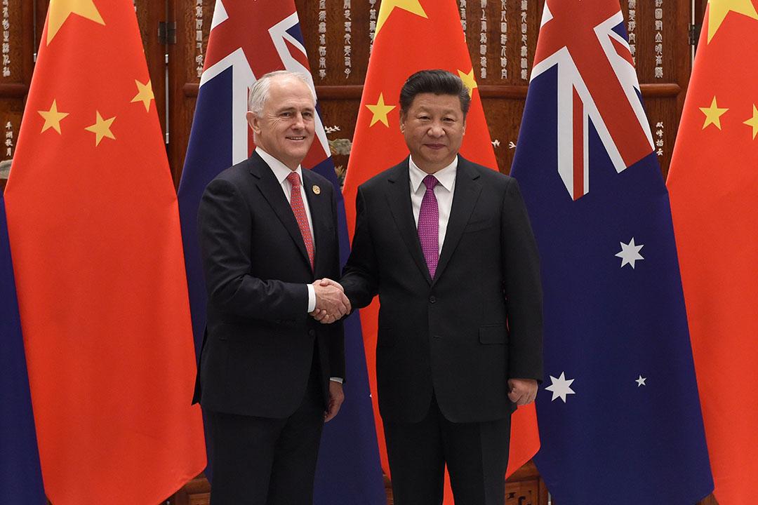 2016年9月4日,澳洲總理特恩布爾和中國國家主席習近平在 G20 峰會期間會面。 攝:Wang Zhou - Pool/Getty Images