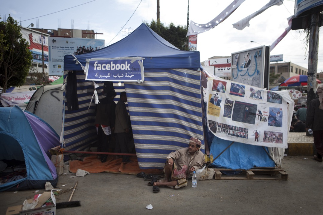 自從社交媒體盛行,人們對社會和政治議題的參與多了一種方式。圖片攝於2011年「阿拉伯之春」革命浪潮期間,這場運動成功引起國際關注,很多人歸根於Facebook和Twitter等社交媒體的運用。 攝:Jonathan Saruk/Getty Images