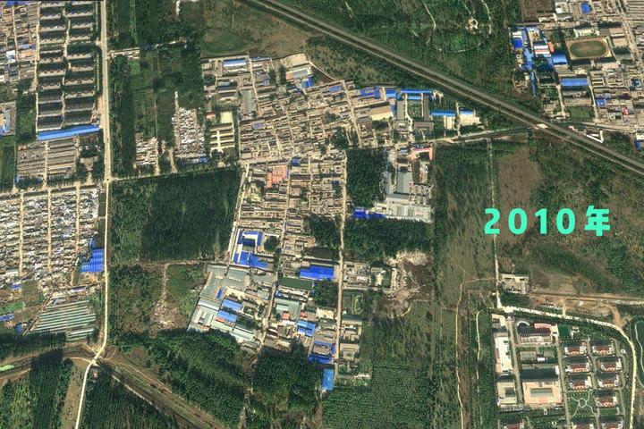 東小口廢品村鳥瞰圖。圖:端傳媒設計部