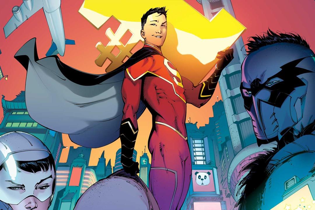 DC漫畫公司推出的正版「新超人」孔克南原本是普通的上海高中生,機緣巧合,他在東方明珠塔的秘密實驗室繼承了超人的力量,並與「中國蝙蝠俠」和「中國神奇女俠」一起組成「中國正義聯盟」。負責撰寫故事線的,則是麥克阿瑟天才獎獲得者、炙手可熱的美國華裔漫畫家楊謹倫。 圖片來源:網上截圖