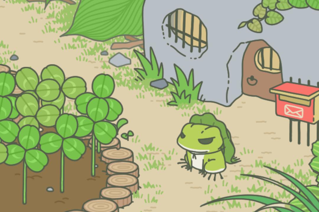 手機遊戲《旅行青蛙》截圖。 圖片來源:遊戲截圖