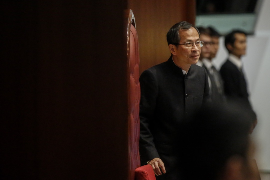 曾鈺成:香港的談判籌碼只來自中央政府對一國兩制的支持。如果他們不再擁護一國兩制,那香港就不再有任何談判籌碼了。 攝:林振東/端傳媒