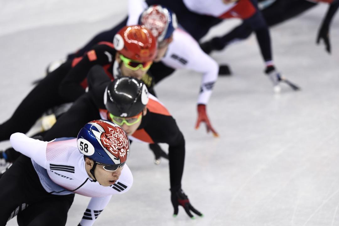 2018年2月10日,男子1500米短道速滑準決賽。