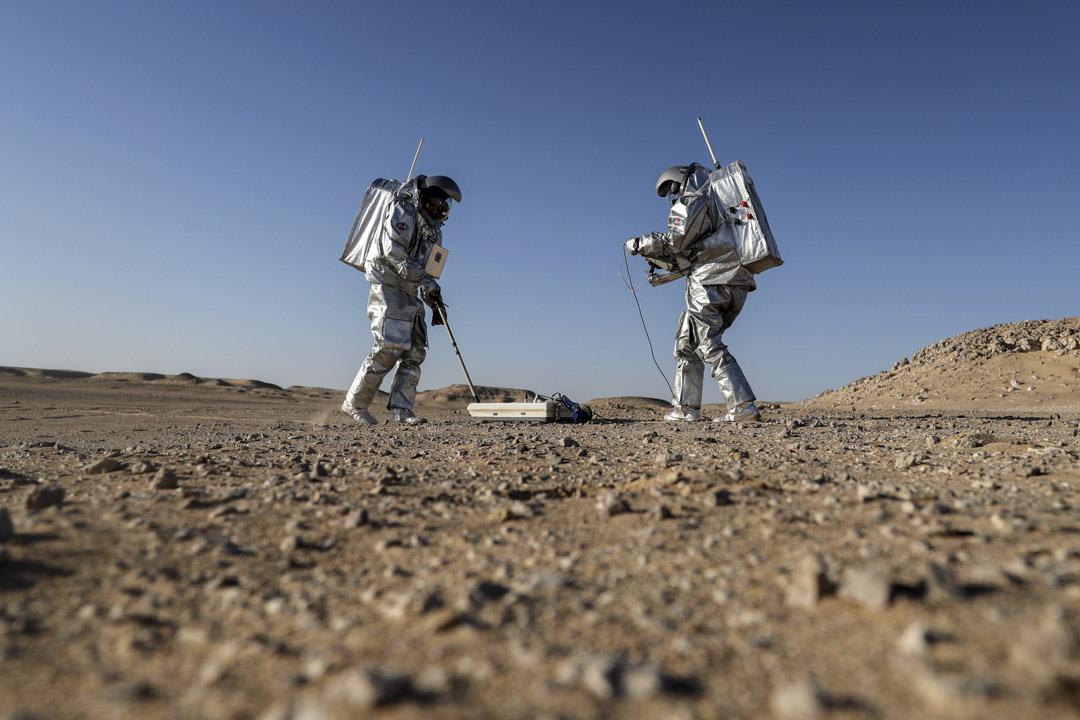 2018年2月7日,奧地利航天論壇(OeWF)的六位太空人正在阿曼Dhofar沙漠中進行最新一輪的探索性實驗,他們嚴格模擬在火星上的生活。