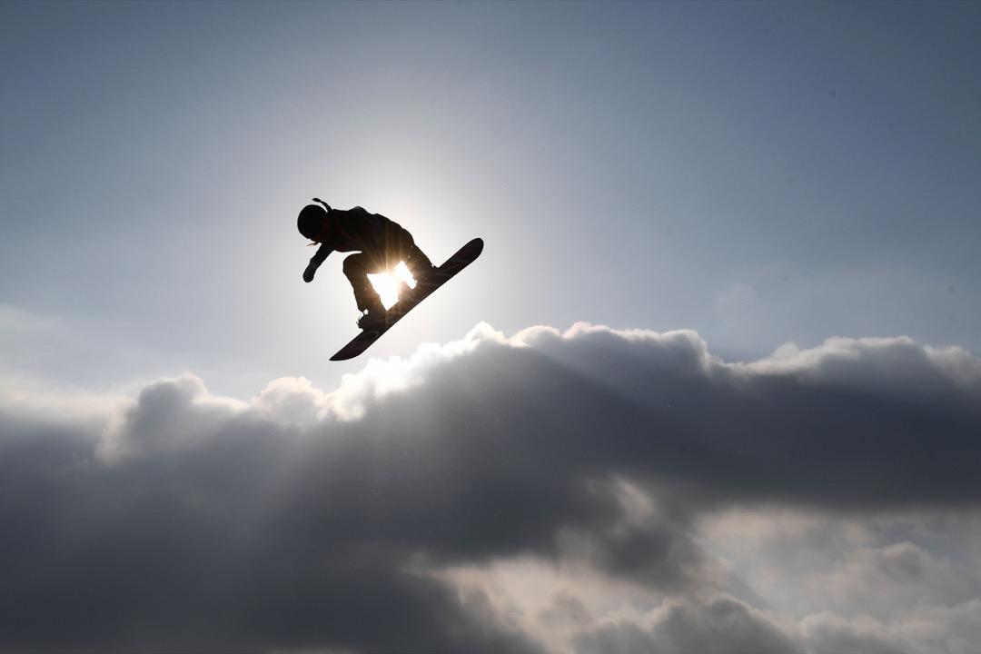 2018年2月22日,挪威選手 Silje Norendal 正挑戰女子單板滑雪大跳台項目決賽。