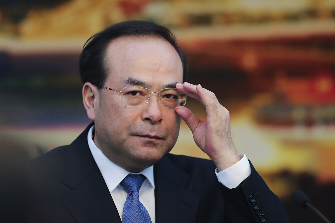 圖為去年3月6日,時任重慶市委書記孫政才在北京出席會議。 攝:Lintao Zhang / Getty Images