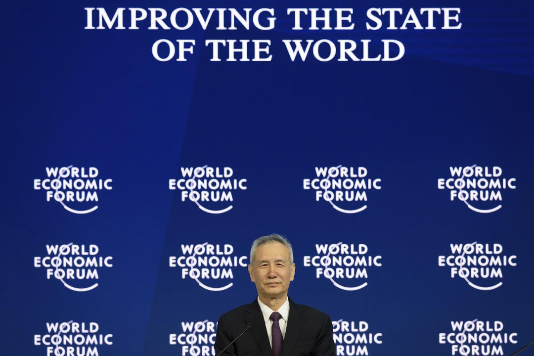 今年的達沃斯世界經濟論壇,中國方面派出中共中央政治局委員、中央財經領導小組辦公室主任劉鶴出席。