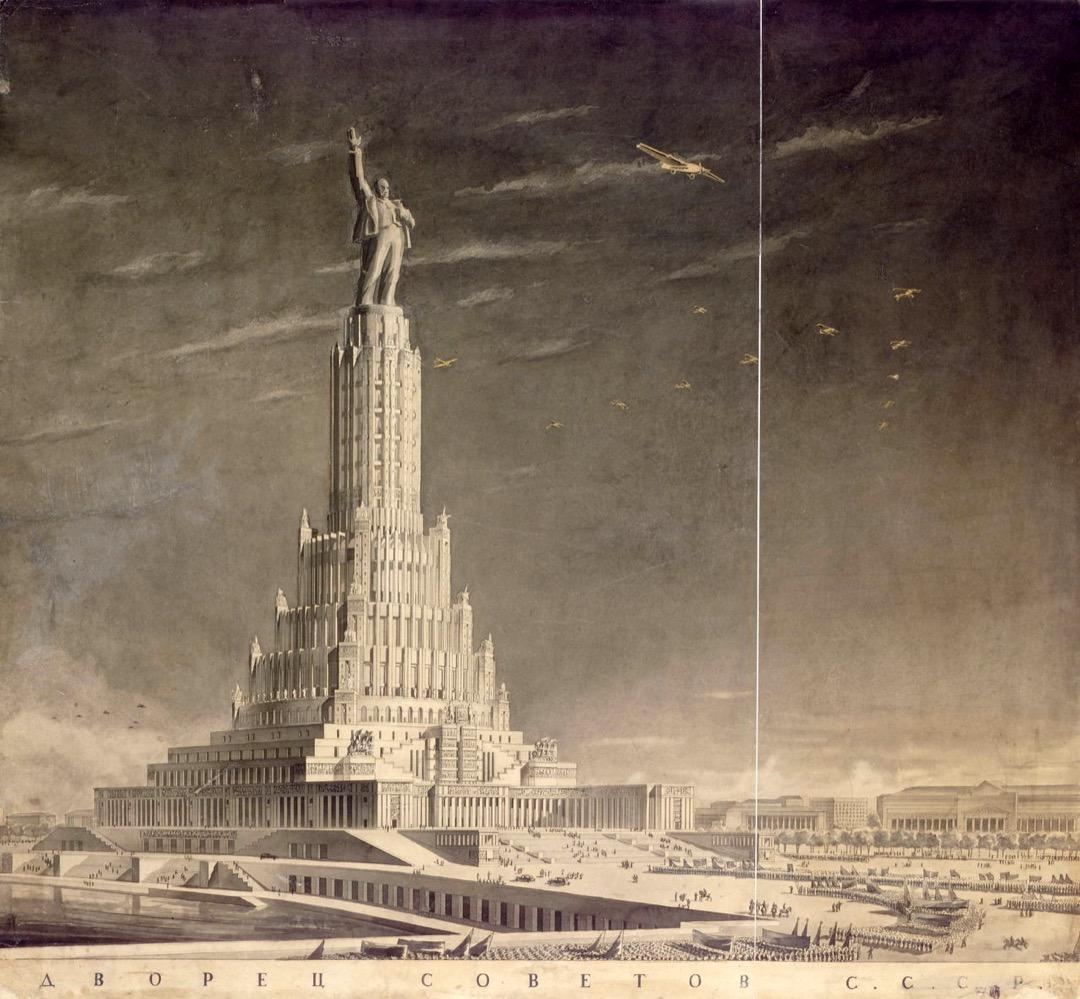 「蘇維埃宮」建築草圖。