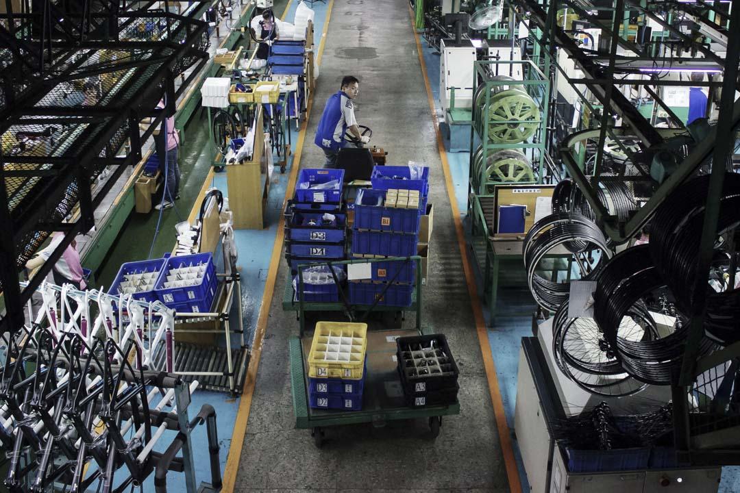 顏擇雅:台灣製造業底子並不差。照理說,除非我們了犯什麼錯,「中國製造2025」對台灣影響應該不大。圖為台中一間單車工廠。