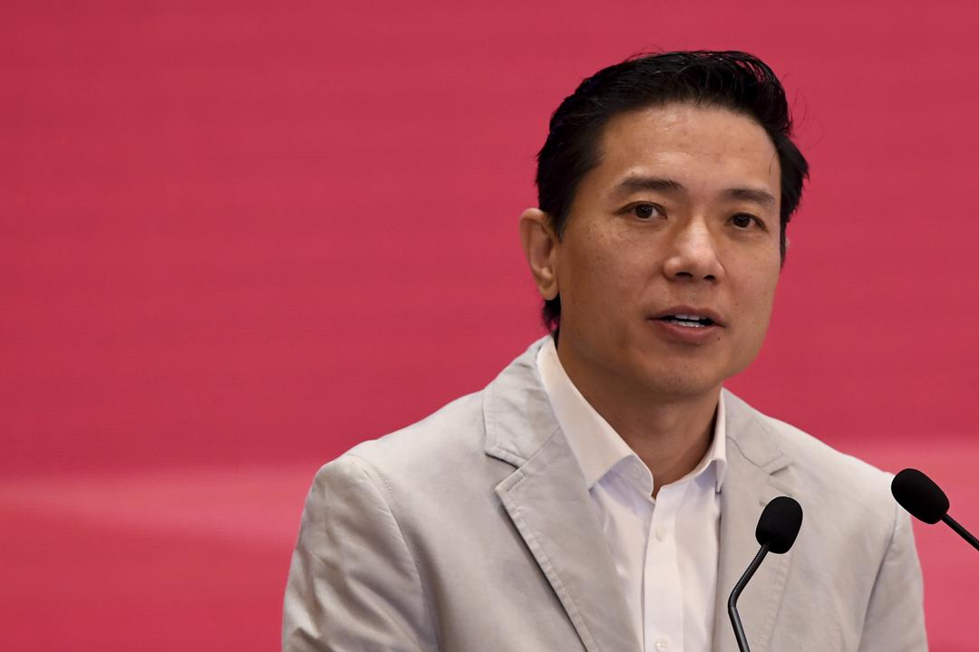 2018年3月26日,百度行政總裁李彥宏於發展中國論壇上發表講話。 攝:Cui Nan/China News Service/VCG via Getty Images