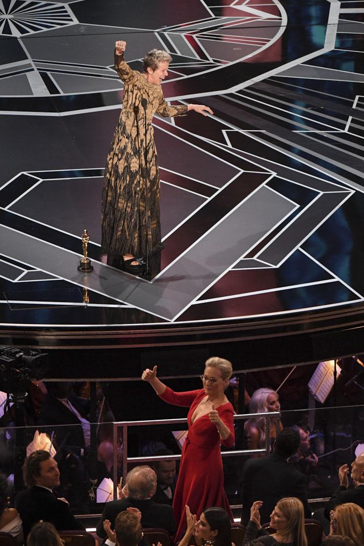 Frances McDormand 憑《廣告牌殺人事件》(Three Billboards Outside Ebbing, Missouri)獲得最佳女主角。