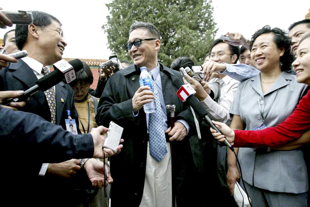 2005年9月20日,李敖在北京故宮遊覽。 攝:Imagine China