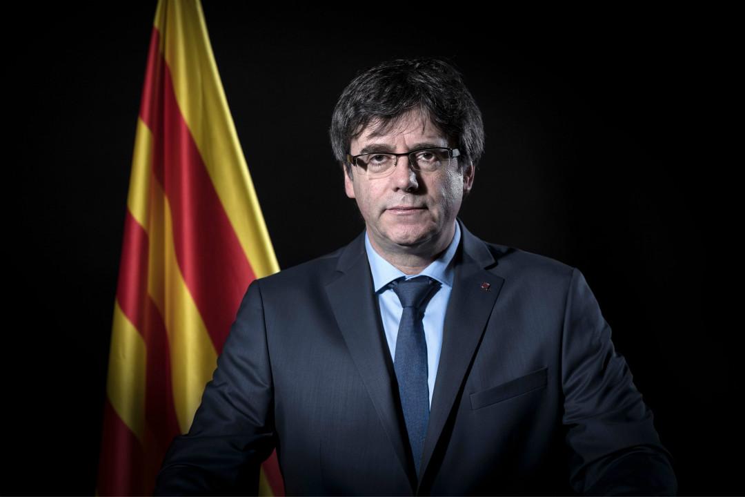 2018年3月25日,西班牙加泰隆尼亞自治區前主席普伊格蒙特(Carles Puigdemont)在德國被捕。 攝: Emmanuel Dunand/Getty Images