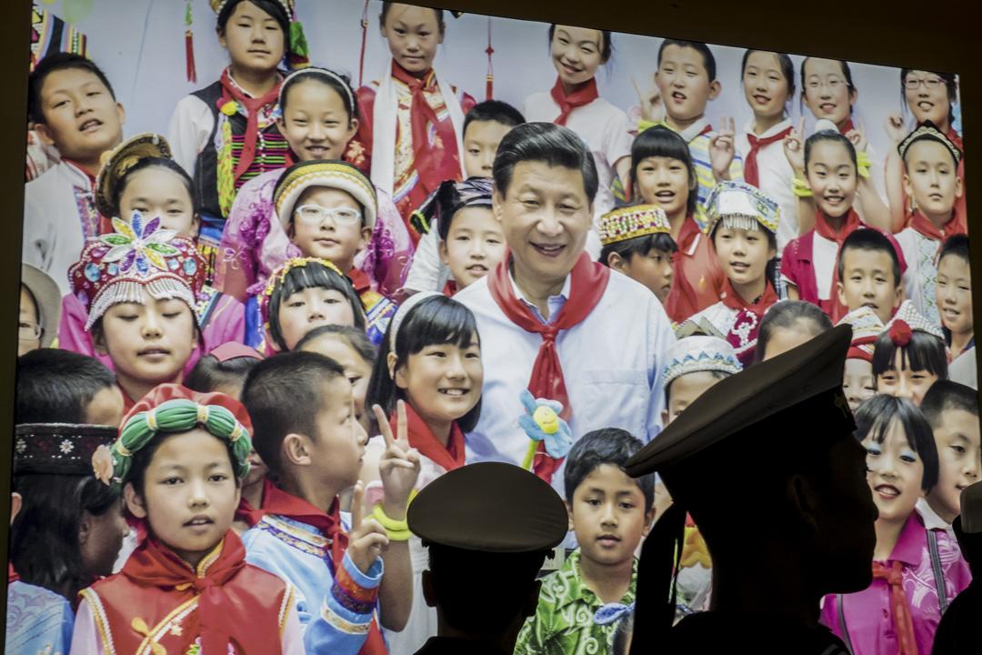 中共中央委員會提議,刪除憲法第七十九條第三款中對國家主席、副主席「連續任職不得超過兩屆」的規定。外間普遍反應是修憲為中國最高領導人習近平繼續執掌黨、政、軍大權鋪路。 攝:Qilai Shen/Bloomberg via Getty Images