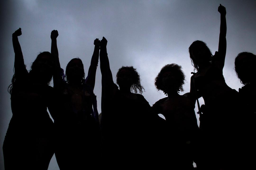 2018年3月8日,巴西里約熱內盧市中心,有巴西婦女發起國際婦女節的示威。 攝:Mauro Pimentel/AFP/Getty Images