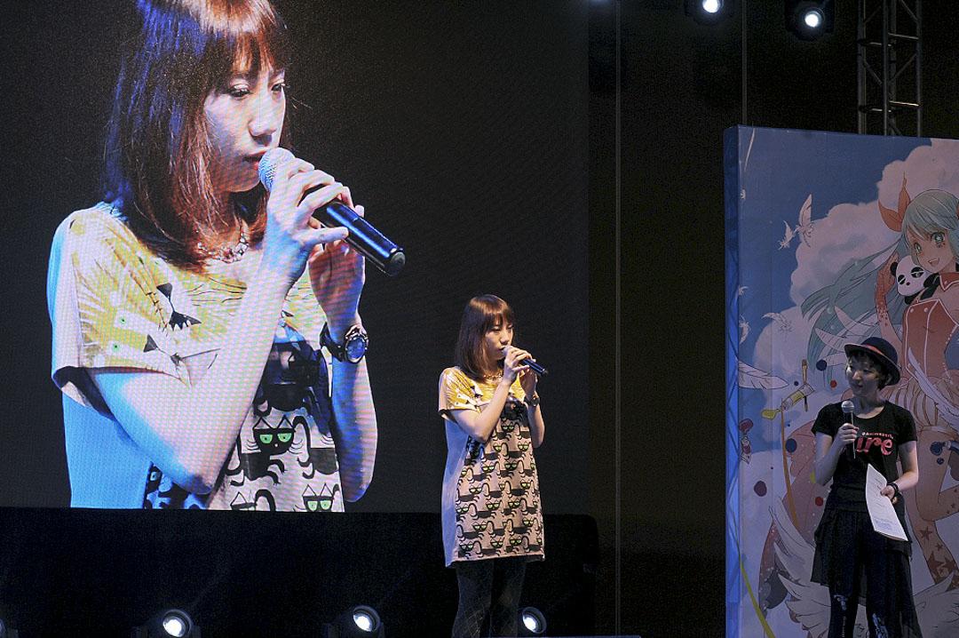劉婧犖在上海漫展Animepar 的個人見面環節。