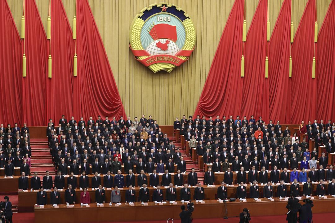 2018年3月15日,全國政協十三屆一次會議在北京人民大會堂舉行閉幕會。 攝:WU HONG / 東方IC