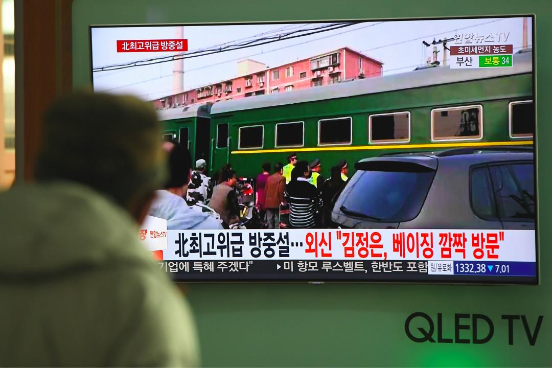 中國官方證實北韓最高領導人金正恩應中國國家主席習近平的邀請訪華。 攝:Jung Yeon-Je/Getty Images