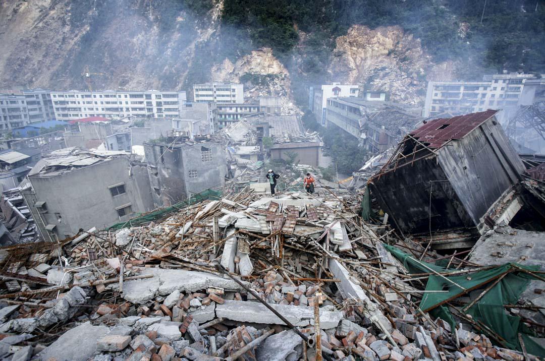 2008年,四川大地震。