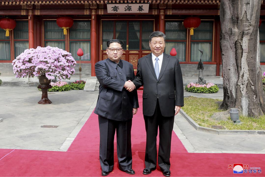 新華社周三(28日)報道指,北韓領導人應中國國家主席習近平邀請,於3月25日至28日訪問中國。 攝:AFP/Getty Images