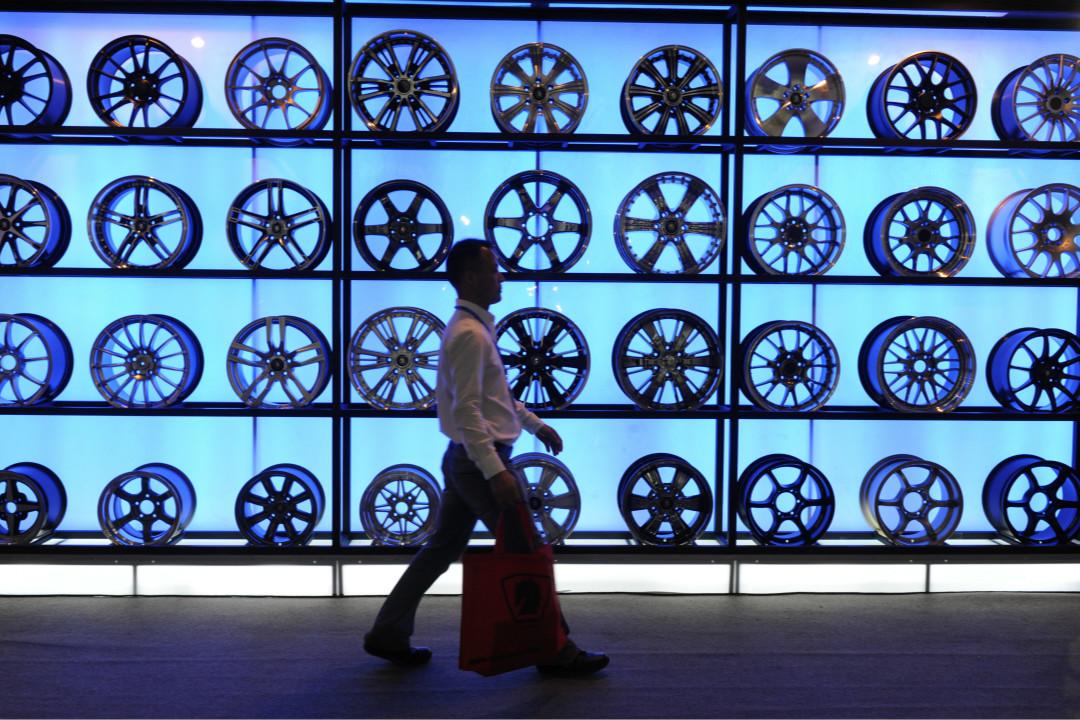 2011年10月13日,在北京舉行的一次鋼製車輪展。 攝:Imagine China