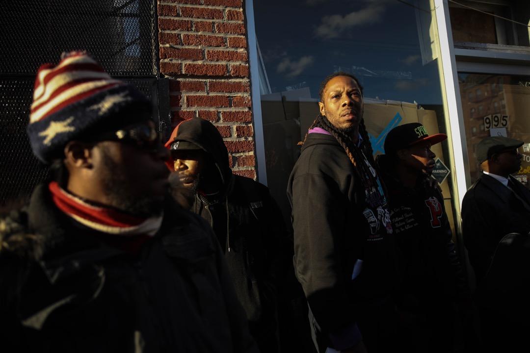 2018年4月5日,美國紐約市布魯克林區,當地民眾參與示威,抗議警察濫殺黑人居民 Saheed Vassell。