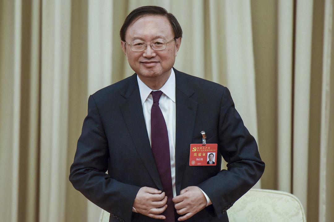 2017年十九大閉幕時,楊潔篪成為首位進入中央政治局的職業外交家。