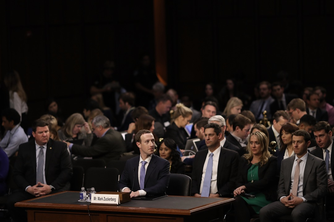 2018年4月10日,Facebook 創辦人兼行政總裁朱克伯格就外洩風波事件出席國會聽證會。