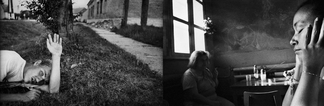 【蒸發 Evaporation】黑白平面攝影系列 (左) Gilvánfa, Hungary (右) Prague, Czech (2003-2013) 。