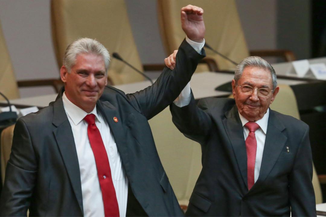 2018年4月19日,57歲的古巴原第一副主席米格爾·迪亞斯-卡內爾(Miguel Díaz-Canel)當選古巴國務委員會主席兼部長會議主席,接替86歲的勞爾·卡斯特羅(Raul Castro)。 攝:Alexandre Meneghini/Imagine China