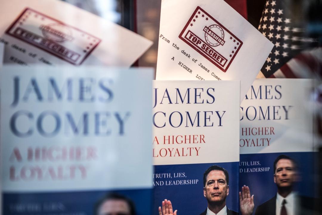 4月份美國最受矚目的一本書,無疑是去年5月被美國總統特朗普突然解僱的前聯邦調查局局長科米的《更高的忠誠:真相、謊言和領導力》。 攝:Chris J Ratcliffe/Getty Images