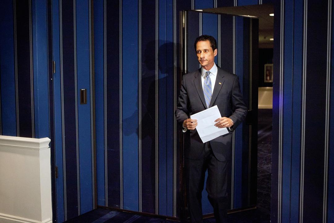 前紐約州民主黨聯邦眾議員韋納就不雅圖片和訊息的醜聞召開記者會回應。