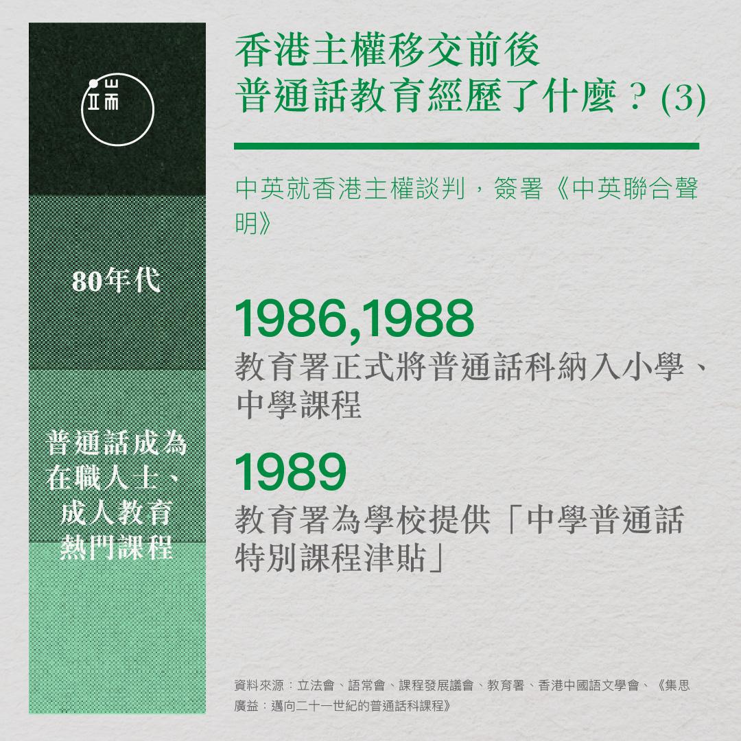 香港主權移交前後,普通話教育經歷了什麼?(3)