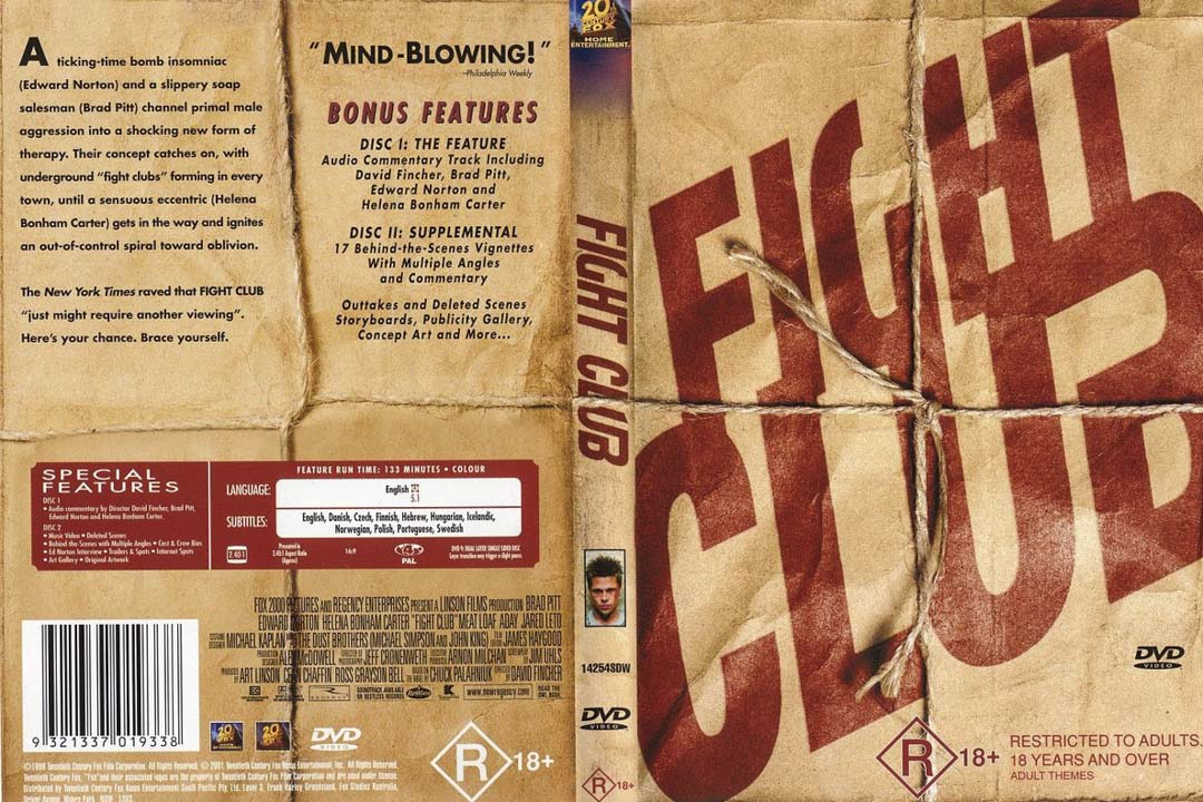 《Fight Club》DVD封面。