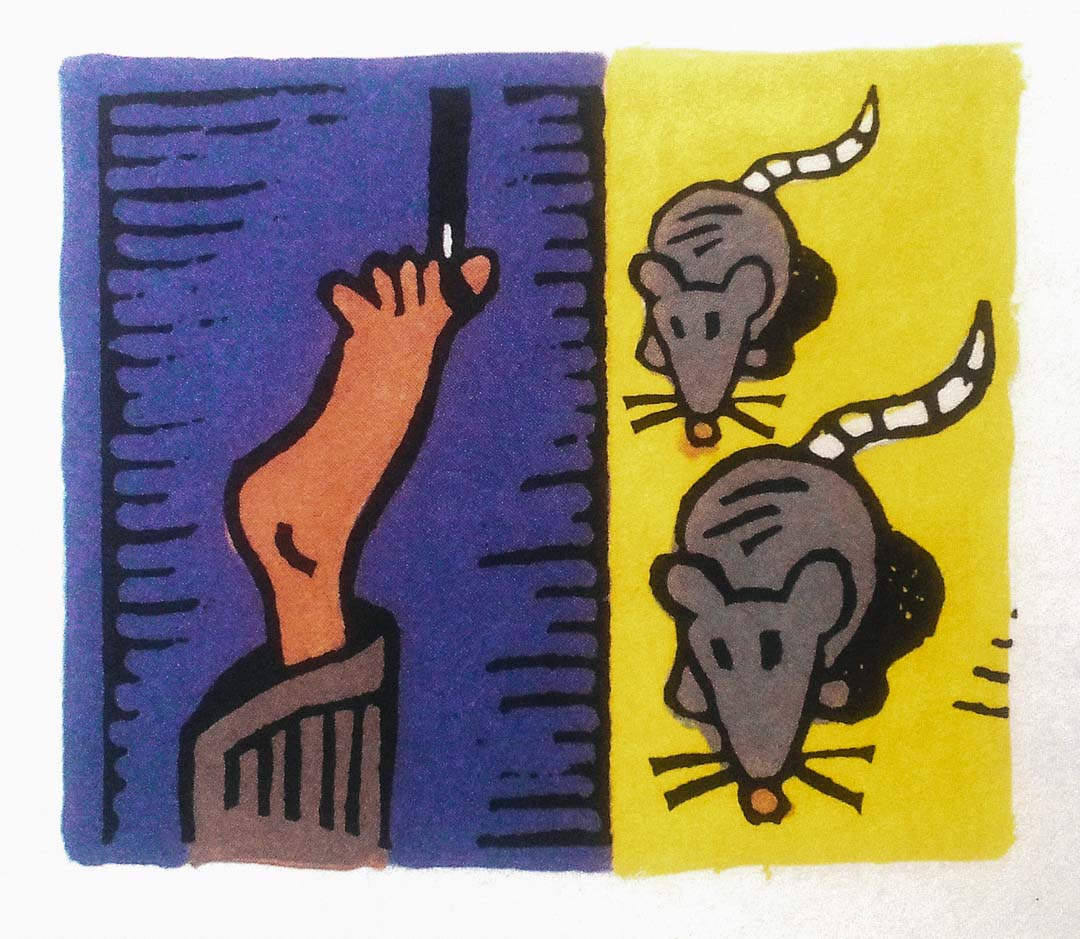 畫家在絕境中以想像力和藝術救了自己。藝術、創意和想像力是否可以讓人自由? 圖為畫家與小老鼠。