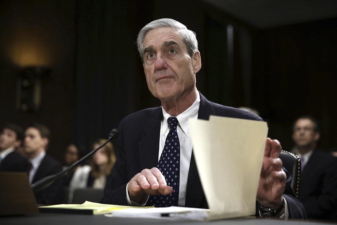 圖為2013年6月,時任聯邦調查局(FBI)局長的穆勒出席國會聽證會。 攝:Alex Wong / Getty Images