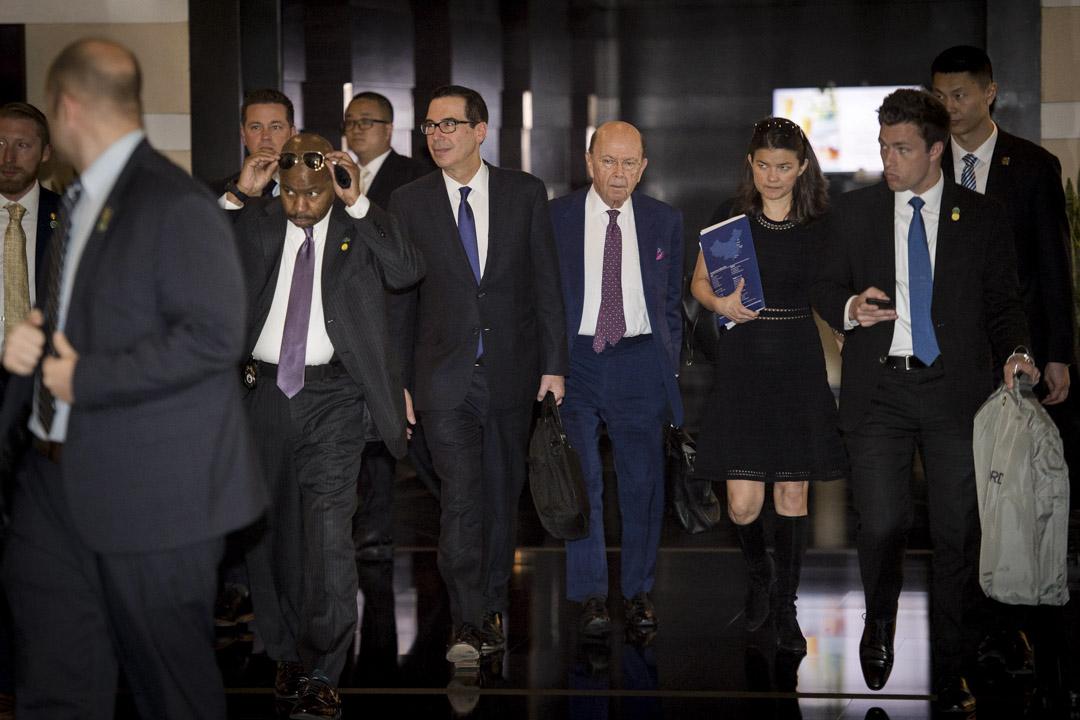 2018年5月4日,美國財政部長姆努欽(Steven Mnuchin)和美國商務部長羅斯(Wilbur Ross)等率團訪華,與中方磋商貿易議題。