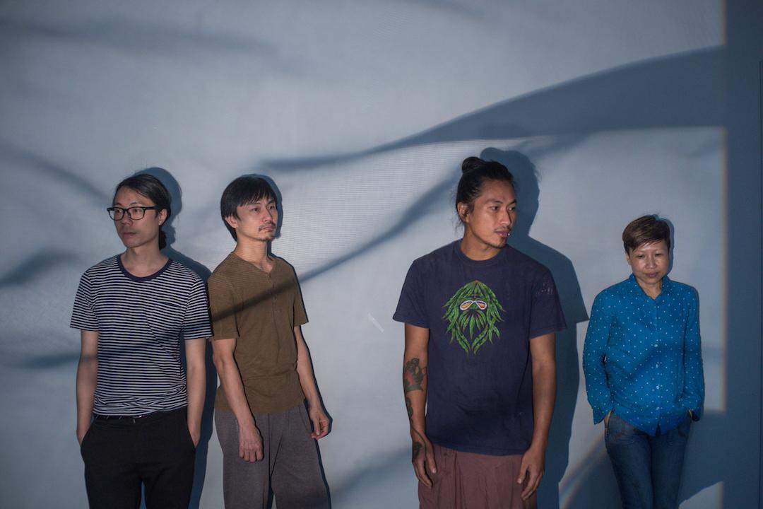 左起:導演方祺端、形體指導王榮祿、音樂表演者黑鬼、概念及藝術總監林嵐