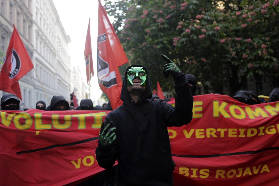 2017年在五一革命遊行在柏林Kreuzberg 舉行。