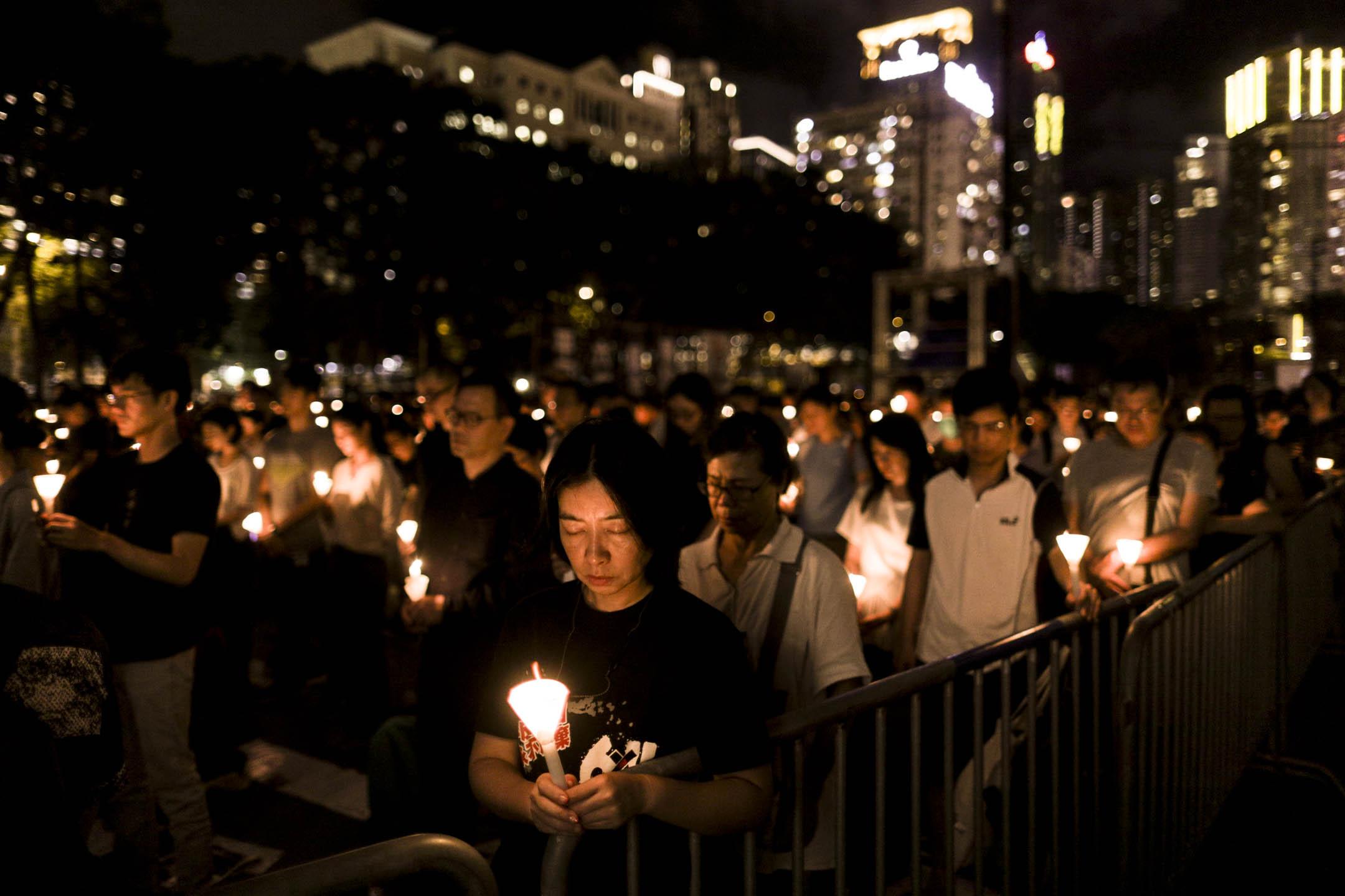 六四維園燭光晚會。 攝:Stanley Leung/端傳媒