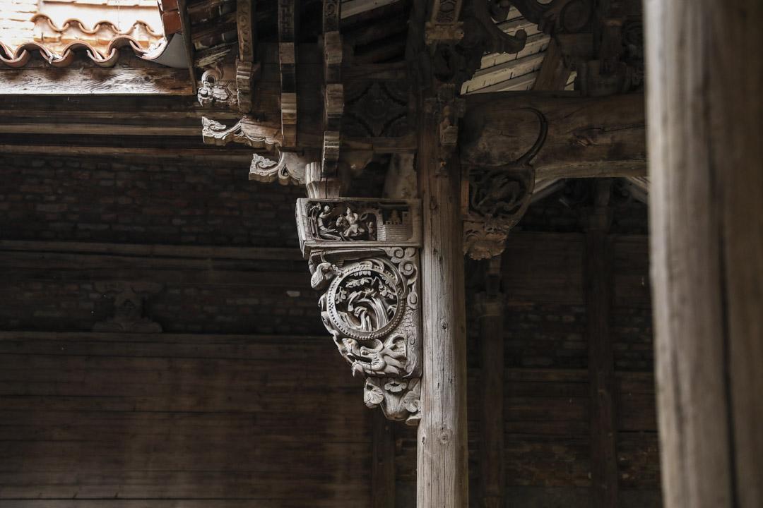 陳文玉古建築裡的東陽木雕。