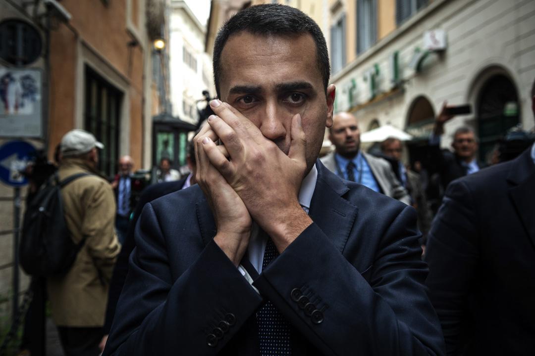 承諾不結盟的五星運動在今年的大選中獲得約32%的選票,雖一躍成為議會最大單一政黨,卻仍不足以單獨組閣。圖為五星運動領袖迪馬約(Luigi Di Maio)。