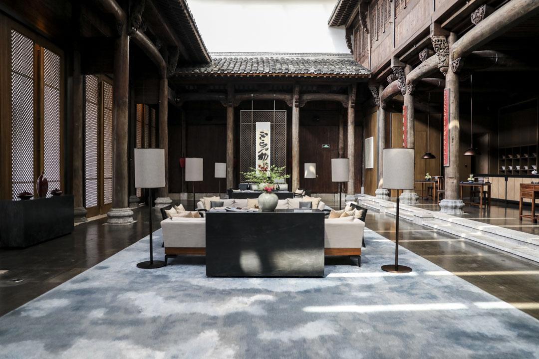 上海朱家角安麓,五鳳樓改造的前廳