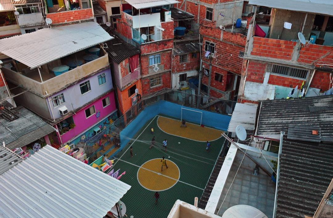 巴西,里約熱內盧,塔瓦雷斯巴斯托斯貧民窟。