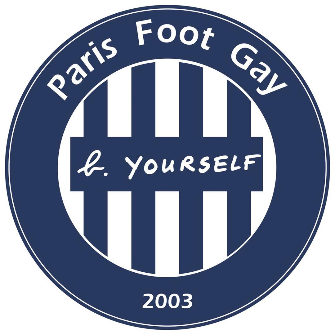 「巴黎同性戀足球俱樂部」(Paris Foot Gay)的隊徽。