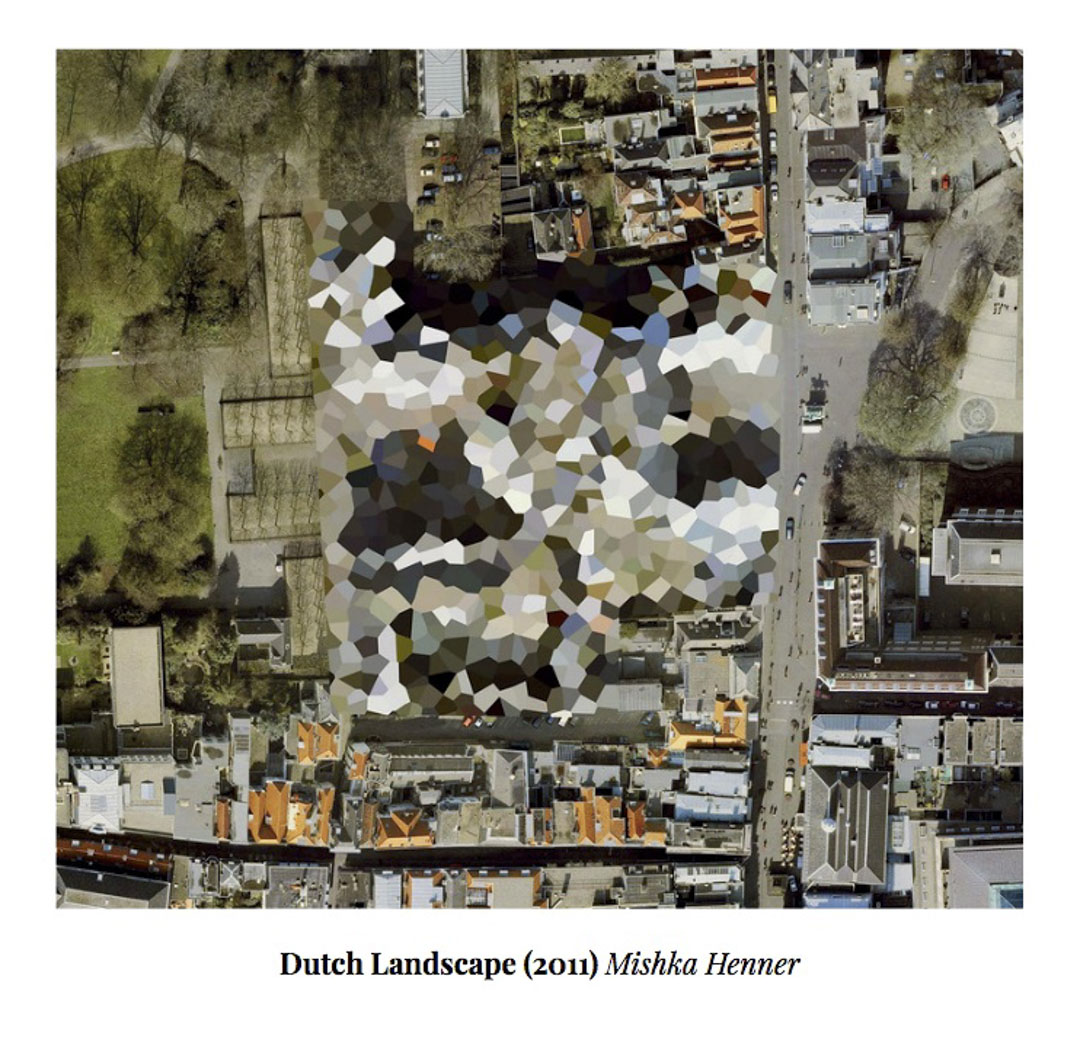 Mishka Henner的作品以Google Map展示荷蘭不為人知的軍事敏感地帶。