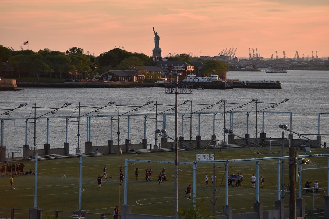 美國,紐約市,布魯克林橋公園。