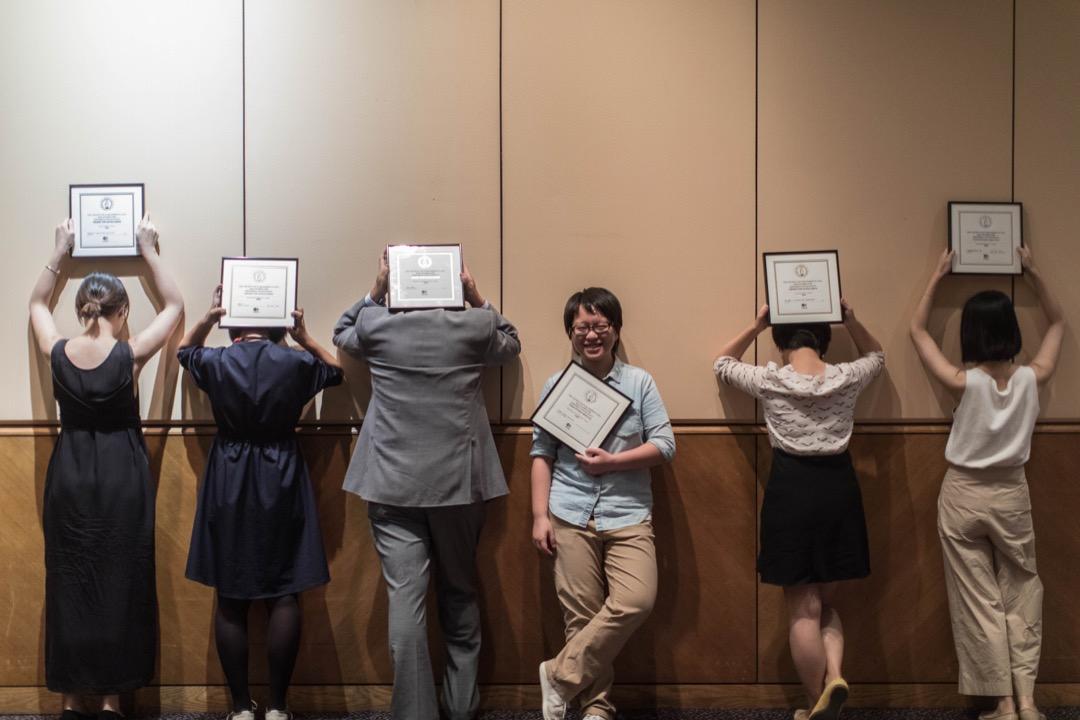 2018年6月13日,亞洲出版協會「2018年卓越新聞獎」頒獎現場。 攝:Stanley Leung/端傳媒