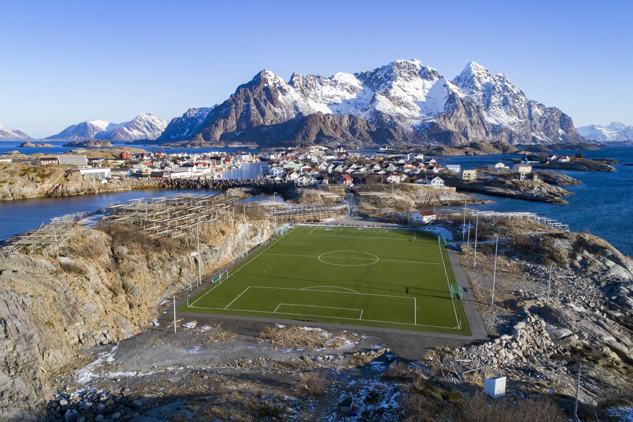 挪威,羅弗敦島,北極圈內。 攝:Olivier Morin/AFP/Getty Images